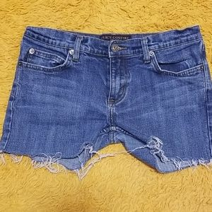 Juicy couture cut off Jean shorts